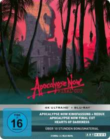 Apocalypse Now (Limited 40th Anniversary Edition) (Ultra HD Blu-ray & Blu-ray im Steelbook), 2 Ultra HD Blu-rays und 4 Blu-ray Discs