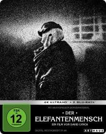 Der Elefantenmensch (Ultra HD Blu-ray & Blu-ray im Steelbook), 1 Ultra HD Blu-ray und 2 Blu-ray Discs