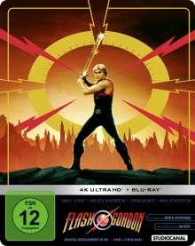 Flash Gordon (Ultra HD Blu-ray & Blu-ray im Steelbook), 1 Ultra HD Blu-ray und 2 Blu-ray Discs