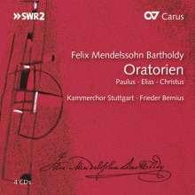 Felix Mendelssohn Bartholdy (1809-1847): Die Oratorien, 4 CDs