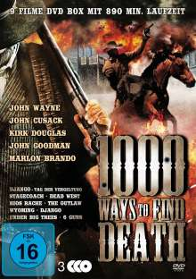 1000 Ways To Find Death (9 Western auf 3 DVDs), 3 DVDs