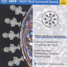 Ludwig van Beethoven (1770-1827): Symphonien Nr.3 & 4, Super Audio CD