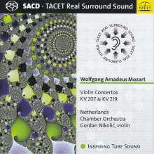 Wolfgang Amadeus Mozart (1756-1791): Violinkonzerte Nr.1 & 5, Super Audio CD