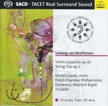 Ludwig van Beethoven (1770-1827): Violinkonzert op.61, 1 Super Audio CD und 1 CD