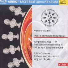 Ludwig van Beethoven (1770-1827): Symphonien Nr.1-9, 3 Blu-ray Audio