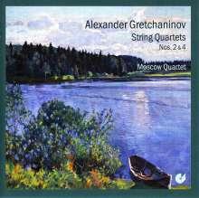 Alexander Gretschaninoff (1864-1956): Streichquartette Nr.2 & 4, CD