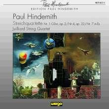 Paul Hindemith (1895-1963): Streichquartette Nr.1,4,7, CD