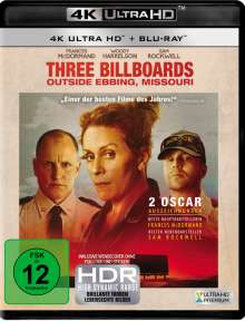 Three Billboards Outside Ebbing, Missouri (Ultra HD Blu-ray & Blu-ray), 1 Ultra HD Blu-ray und 1 Blu-ray Disc