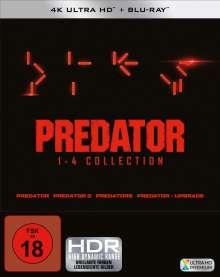 Predator 1-4 Collection (Ultra HD Blu-ray & Blu-ray), 4 Ultra HD Blu-rays und 4 Blu-ray Discs