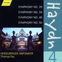 Joseph Haydn (1732-1809): Symphonien Nr.34,39,40,50, CD