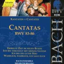 Johann Sebastian Bach (1685-1750): Die vollständige Bach-Edition Vol.27 (Kantaten BWV 83-86), CD