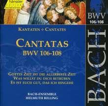 Johann Sebastian Bach (1685-1750): Die vollständige Bach-Edition Vol.34 (Kantaten BWV 106-108), CD