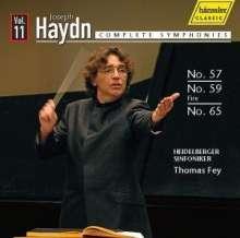 Joseph Haydn (1732-1809): Symphonien Nr.57,59,65, CD