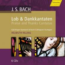 Johann Sebastian Bach (1685-1750): Lob- und Dankkantaten, 6 CDs