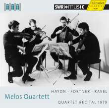 Melos-Quartett  - Quartet Recital 1979 (Schwetzinger Festspiele), CD