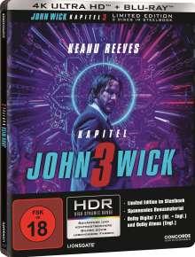 John Wick: Kapitel 3 (Ultra HD Blu-ray & Blu-ray im Steelbook), 1 Ultra HD Blu-ray und 1 Blu-ray Disc