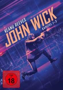 John Wick: Kapitel 1-3, 3 DVDs