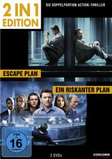 Escape Plan / Ein riskanter Plan, 2 DVDs