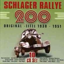 Schlager Rallye: 200 Originaltitel 1938 - 1951 (Box-Set), 10 CDs
