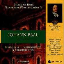 Johann Baal (1657-1701): Missa in A, CD