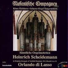 Heinrich Scheidemann (1596-1663): Sämtliche Orgelmotetten, 2 CDs