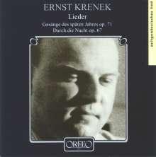 """Ernst Krenek (1900-1991): Lieder op.71 """"Gesänge das späten Jahres"""", CD"""