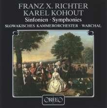 Franz Xaver Richter (1709-1789): Symphonien C-Dur,G-Dur,B-Dur, CD