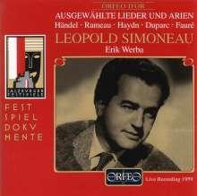 Leopold Simoneau singt Arien & Lieder, CD
