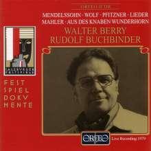 Walter Berry - Salzburger Liederabende 17.August 1979, CD