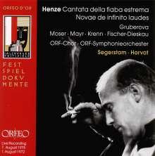 Hans Werner Henze (1926-2012): Cantata della Fiaba Estrema, CD
