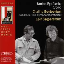 Luciano Berio (1925-2003): Epifanie, CD