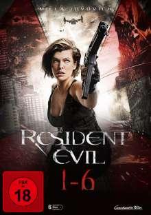 Resident Evil 1-6, 6 DVDs