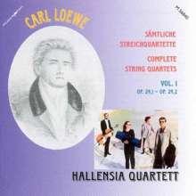 Carl Loewe (1796-1869): Sämtliche Streichquartette Vol.1, CD