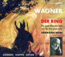 Richard Wagner (1813-1883): Der Ring des Nibelungen für 2 Klaviere, 2 CDs