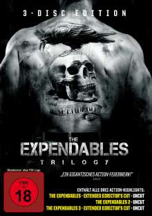 The Expendables Trilogy, 3 DVDs