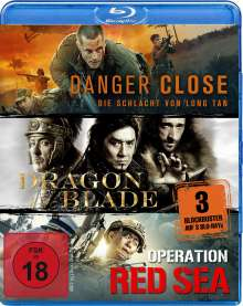 Danger Close / Dragon Blade / Operation Red Sea (Blu-ray), 3 Blu-ray Discs