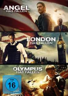 Olympus Has Fallen / London Has Fallen / Angel Has Fallen, 3 DVDs