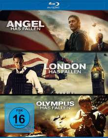 Olympus Has Fallen / London Has Fallen / Angel Has Fallen (Blu-ray), 3 Blu-ray Discs