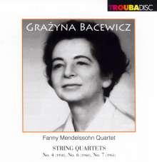 Grazyna Bacewicz (1909-1969): Streichquartette Nr.4,6,7, CD
