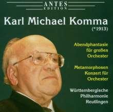 Karl Michael Komma (1913-2012): Abendphantasie für großes Orchester, CD