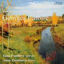"""Georges Catoire (1861-1926): Lieder """"Poems For Voice And Piano"""", CD"""