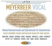 Giacomo Meyerbeer (1791-1864): Vokale Kammermusik & Sakralmusik für Solostimmen, 2 CDs