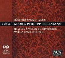 Georg Philipp Telemann (1681-1767): 12 Soli (Sonaten) für Violine oder Flöte & Bc, 2 Super Audio CDs