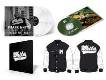 Frank White (Fler): Colucci (Limited-Deluxe-Box) (White Vinyl) (College-Jacke Gr. L), 2 CDs, 2 LPs und 1 Merchandise