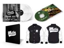 Frank White (Fler): Colucci (Limited-Deluxe-Box) (White Vinyl) (College-Jacke Gr. XXL), 2 CDs, 2 LPs und 1 Merchandise