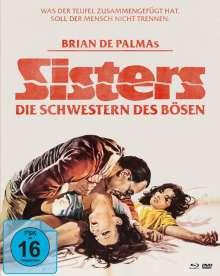 Sisters - Die Schwestern des Bösen (Blu-ray & DVD im Mediabook), 1 Blu-ray Disc und 2 DVDs