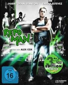 Repo Man (Blu-ray & DVD im Mediabook), 1 Blu-ray Disc und 2 DVDs