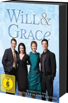 Will & Grace (Komplette Serie), 33 DVDs