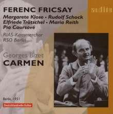 Georges Bizet (1838-1875): Carmen (Ausz.in dt.Spr.), CD