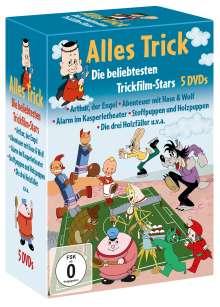 Alles Trick: Die beliebtesten Trickfilm-Stars, 5 DVDs
